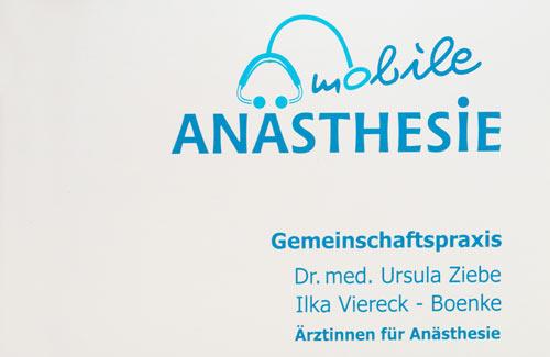 Logo Gemeinschaftspraxis für Anästhesie - Ziebe / Boeke